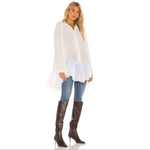 Free People Jeanette Tunic Top in Ivory